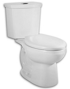American Standard 2889216.020 H2Option Siphonic Dual Flush Round Front Toilet