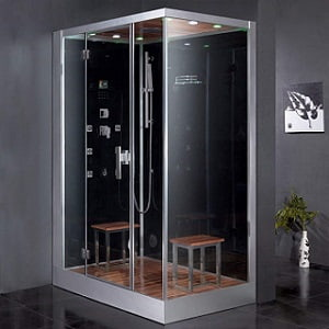 Ariel Platinum DZ961F8-BLK-L Steam Shower