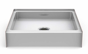 Bestbath 30 x 30 Step-in Shower Base- Center Drain