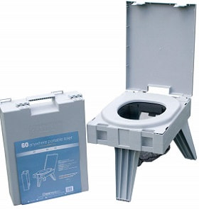 Cleanwaste Portable Toilet including Waste Kit