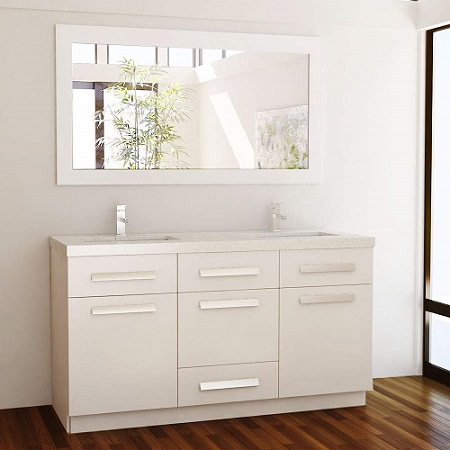 Design Element Moscony Double Sink Vanity Set