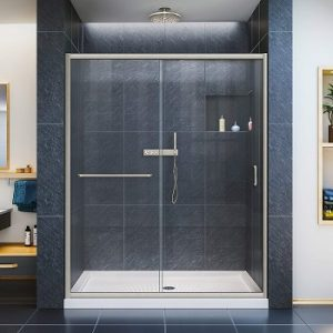 DreamLine Infinity-Z 56-60 in. Width, Frameless Sliding Shower Door