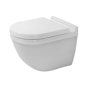 Duravit Toilet Bowl Wall Mounted Starck 3 Toilet