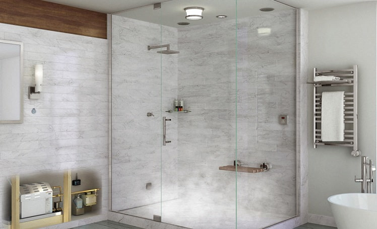 how to build a steam shower enclosure