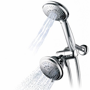 Hydroluxe Full-Chrome 24 Function Ultra Luxury 3-Way 2-in-1 Shower Head