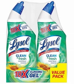 Lysol Power & Fresh Toilet Bowl Cleaner, Country Scent