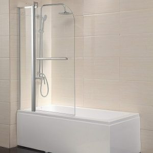 Mecor Shower Door Hinged Frameless
