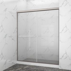SUNNY SHOWER B020-6072CB Frameless Glass Sliding Shower Door