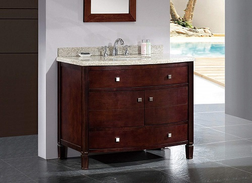 Vanity Ensemble with Sandy Granite Countertop