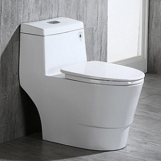 WoodBridge T-0001, Dual Flush Elongated One Piece Toilet