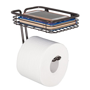 mDesign Wall Mount Toilet Tissue Paper Roll Holder