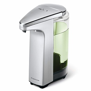 simplehuman Compact Sensor Pump with Soap Sample Brushed Nickel