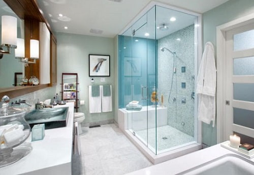steam shower ventilation and lighting